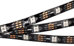 Лента SPI 2-5000-AM 5V RGB (5060,150 LED x1,2812, Black)